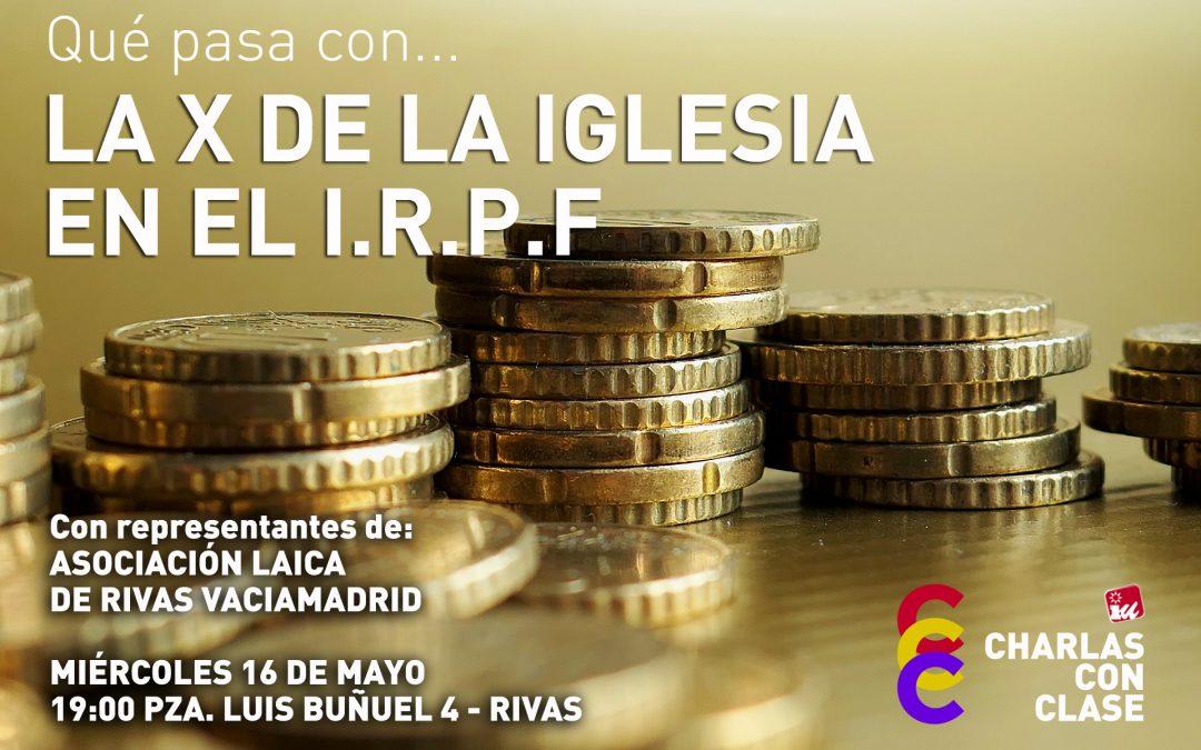 Acto sobre la Campaña del IRPF en la sede de Izquierda Unida de Rivas