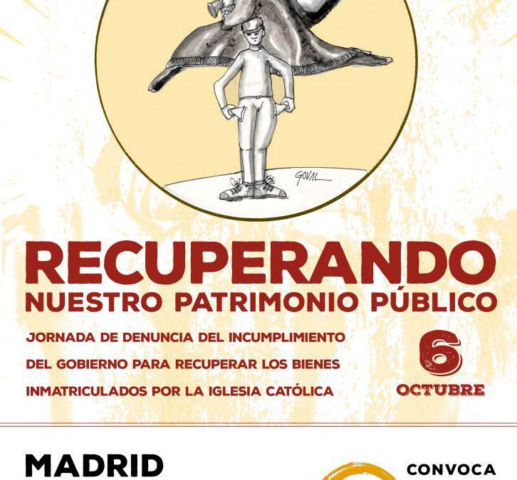 """Concentración en Madrid """"Recuperando nuestro patrimonio público"""""""